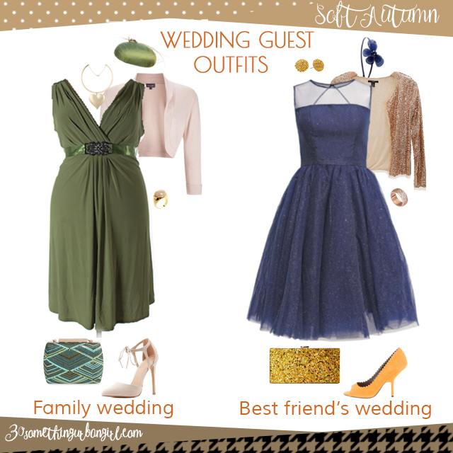 Wedding guest outfit ideas for Soft Autumn women by 30somethingurbangirl.com // Are you invited to a family or your best friend's wedding? Find pretty outfit ideas and look fabulous!