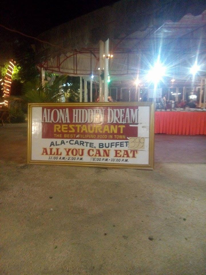 Alona Hidden Dream buffet restaurant in Panglao Island Bohol Central Visayas Philippines