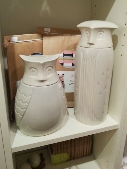 owl biscuit jars tins