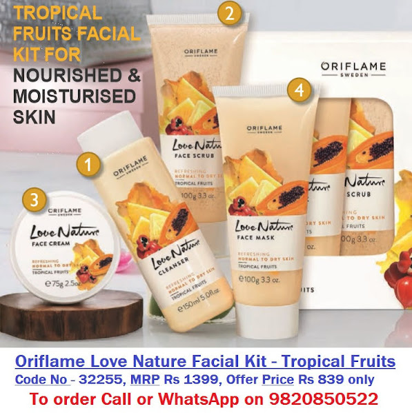 Oriflame Love Nature Facial Kit Tropical Fruits
