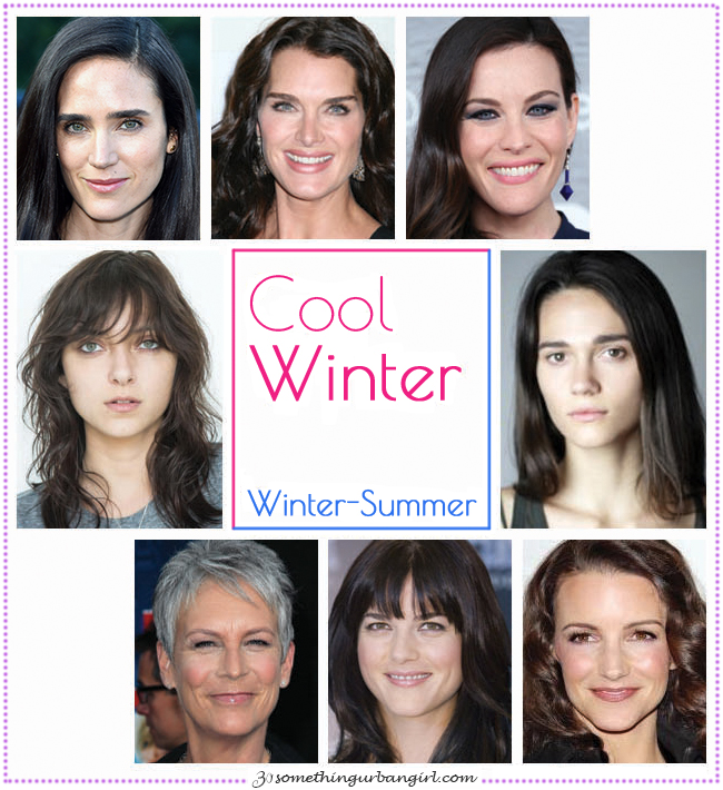 Cool Winter, Winter-Summer seasonal color celebrities by 30somethingurbangirl.com