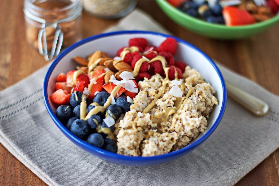Berries and Almonds Breakfast Bowl