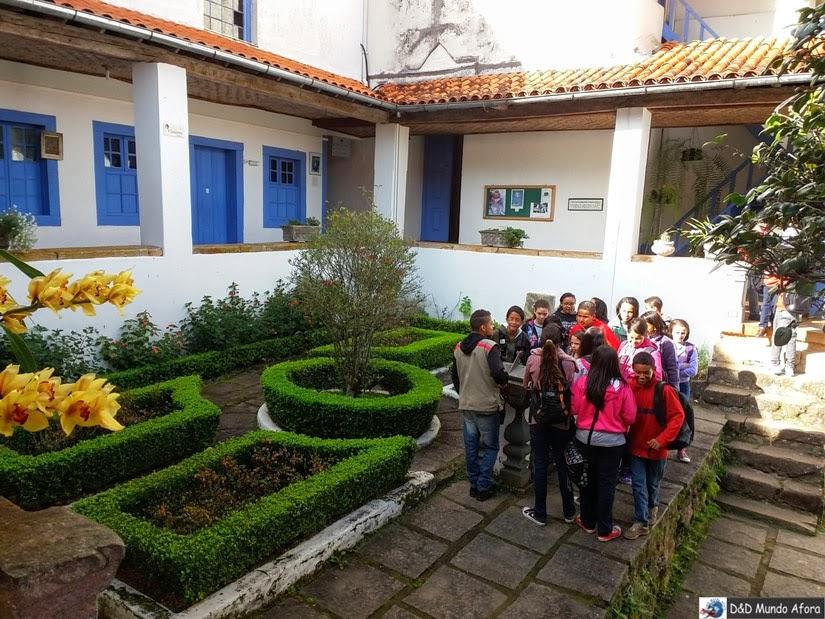 Claustro do Santuário do Caraça, onde os alunos aproveitavam os momentos de folga do colégio