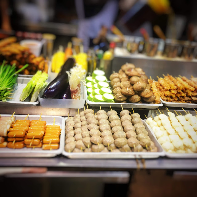 Hong Kong, Street Food, skewers,  香港, 街頭, 小食, 食品, 零食
