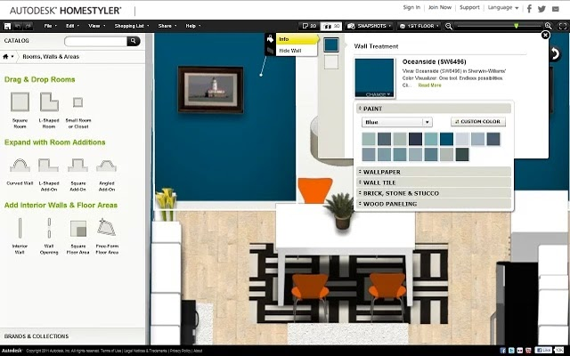 Autodesk homestyler software gratuito para el dise o de for Software diseno de interiores gratis
