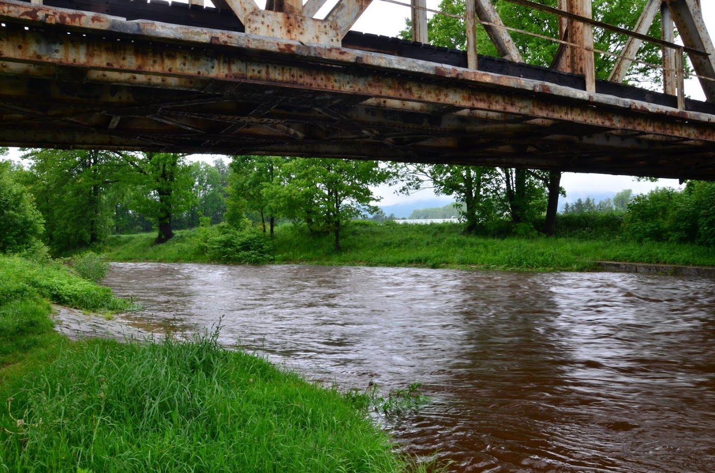 Rzeka Kamienna, wysoki stan wody