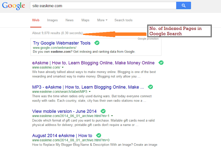 How to Index a Website in Google Search Within 24 Hours : eAskme