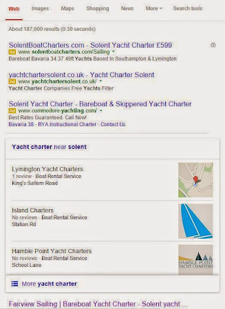 Google Local Pack Displaying Logos