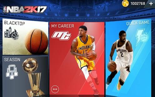 NBA 2K17 v0.0.21 Apk Mod terbaru 2016