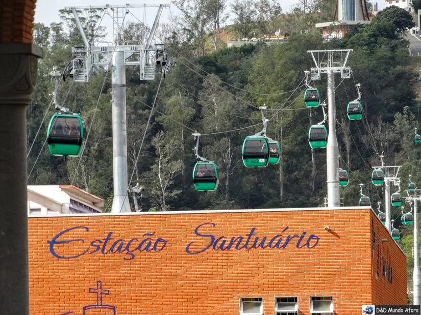 Andar de Bondinho - o que fazer em Aparecida - São Paulo