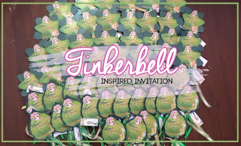 Invitation : Tinkerbell Sticks