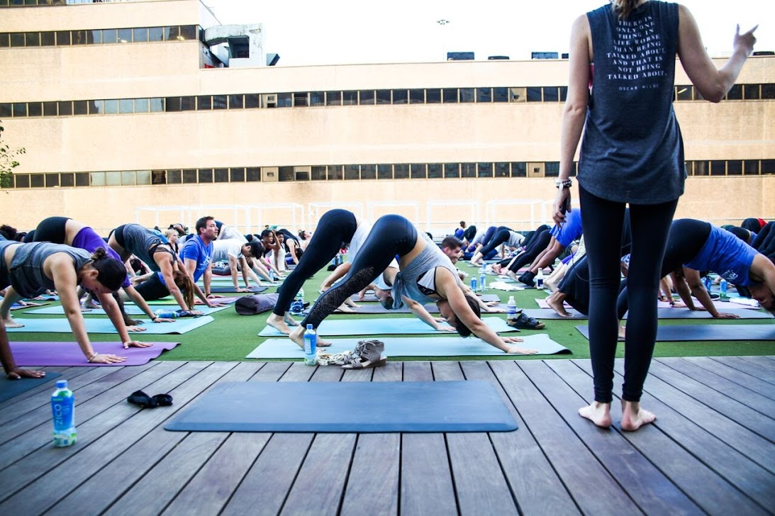 Yoga Session at Life Time at Sky in NYC
