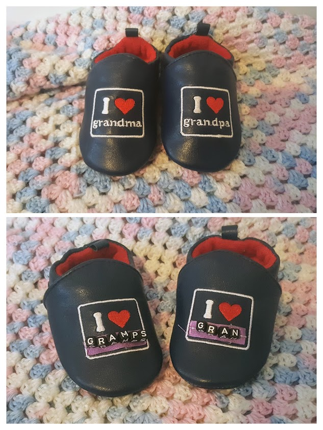Faith and Felt Obsession: Re-labelled Baby Slogan Slippers