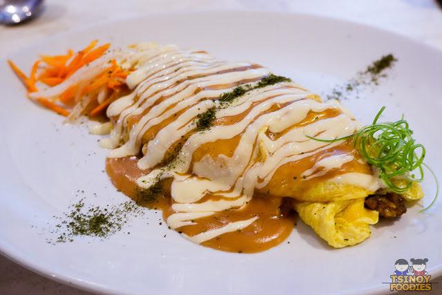 omelete chorizo rice