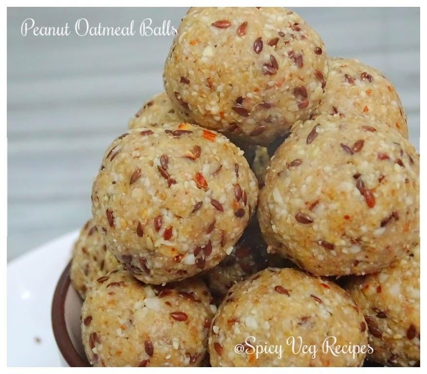 No Bake Oats and Peanut Ball/Ladoos-No Bake Energy Bites-Oats and Peanut Ladoo recipe