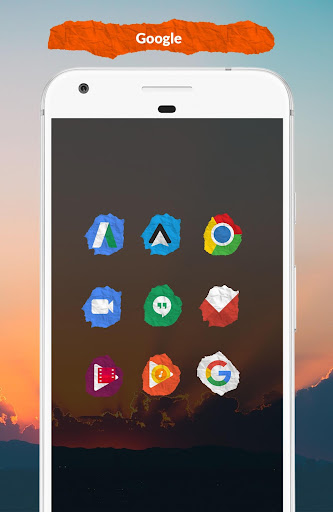 Icon Pack - Paper Shaped Original Icons