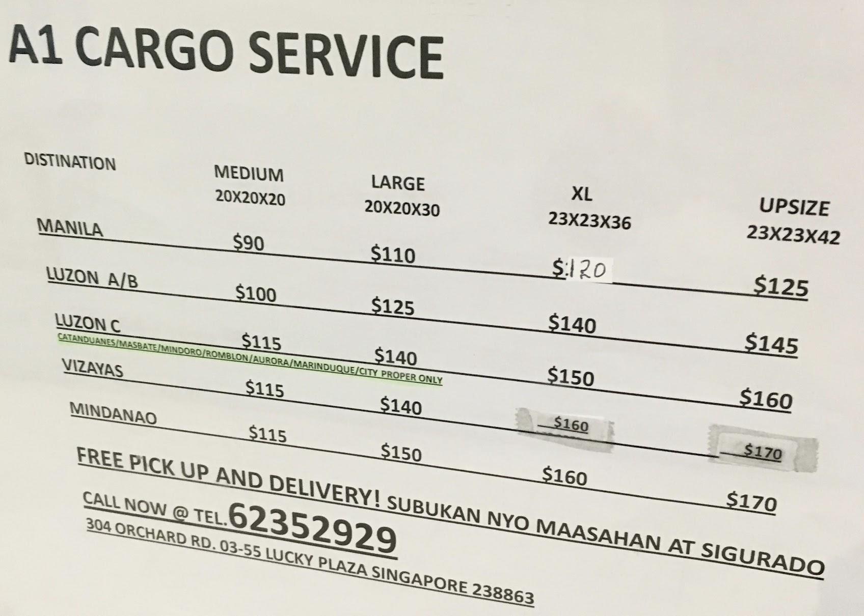 a1 cargo service