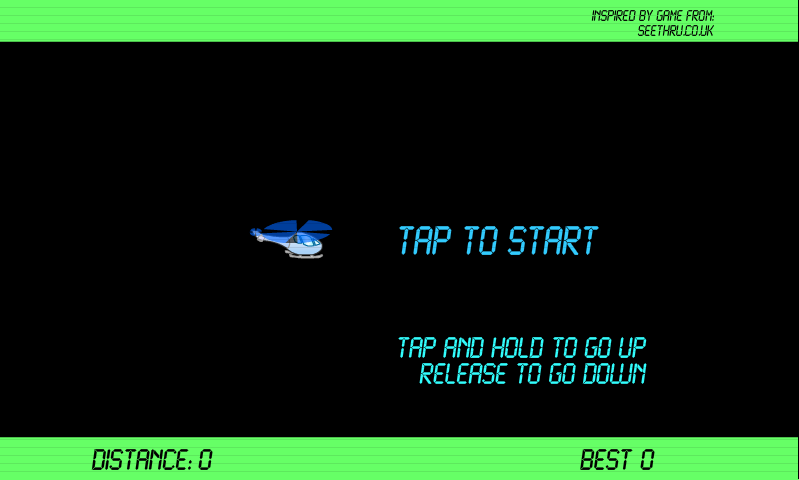 "Check out this Atariesque game ""Helicopter Game""! #Atari 1DGaming"