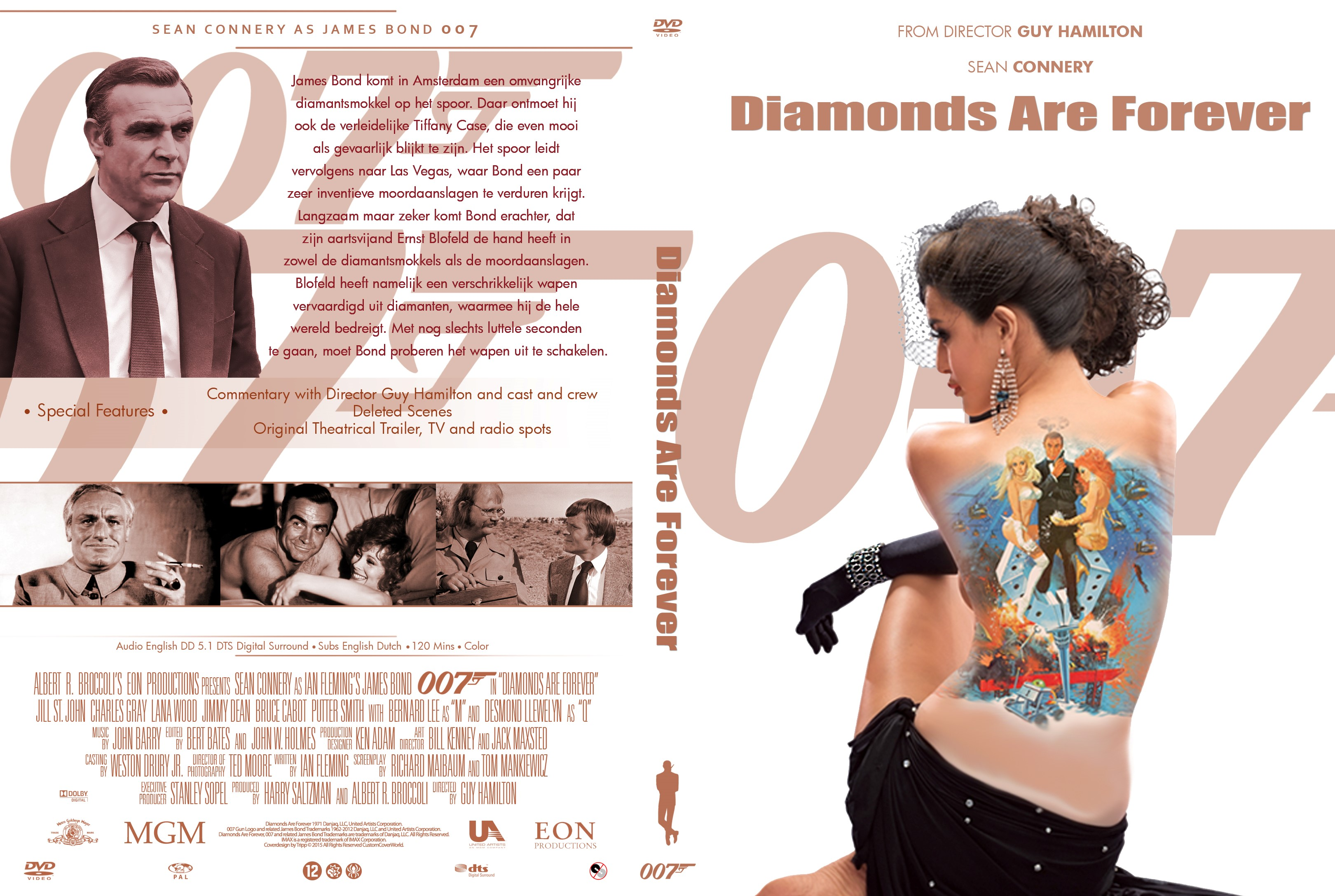 Capa DVD 007 Diamonds Are Forever