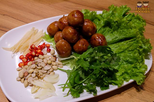 grilled thai isan sausage