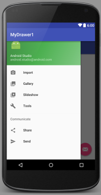 Android Studio Creating Sidebar Navigation Drawer Over Action Bar Part 1 You